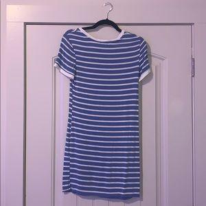 Blue stripped T-Shirt Dress